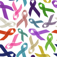 All cancers world day ribbon background pattern