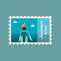 FlyBoard stamp. Summer. Vacation