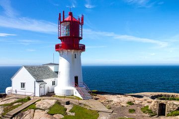 Foto op Canvas Vuurtoren Lindesnes lighthouse