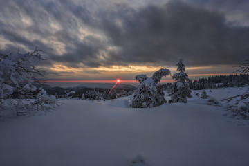 Sunrise at Hornisgrinde, Black Forest