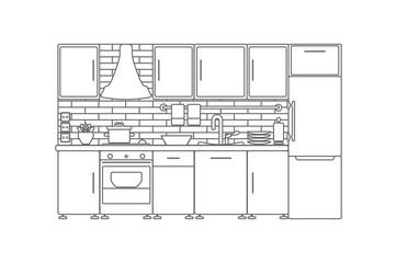 Vector Kitchen Interior.