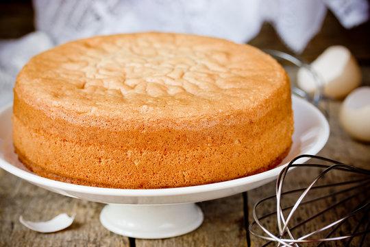 Oven fresh sponge cake. Chiffon biscuit for cake
