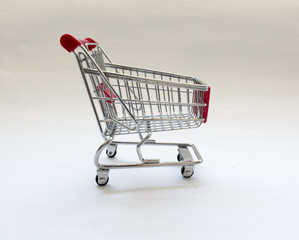 shopping cart with red details