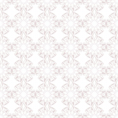 Vector low contrasting background with rhomboid abstract shapes, light pink seamless patterns on white background