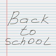 Back to school. School notebook paper