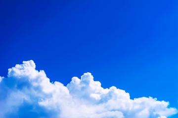 Beautiful cloudy blue sky background copy space