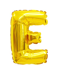 letter e from a balloon