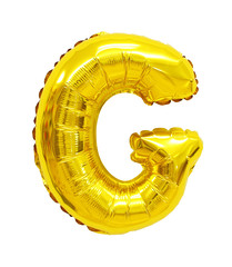 letter g from a balloon