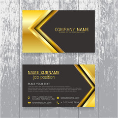 vector Creative leaf business card gold and black design of text