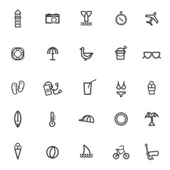 vector Traveling and transport simple icons, Camera lighthouse w