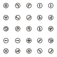 vector Modern Set of arrow icons, graphic on white background