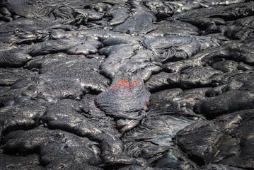 Lava flow in lava field