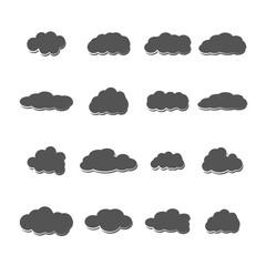 Set of clouds, vector illustration.