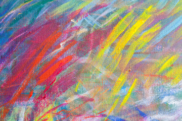 Close up texture and color on canvas