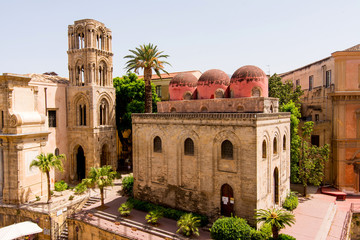 San Cataldo church in Palermo, Sicily. Italy.