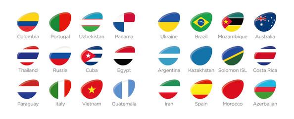 Futsal Moderne Symbole Ellipse der Teilnehmer in Kolumbien