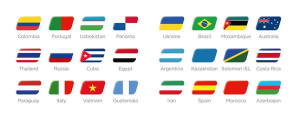 Futsal Moderne Symbole Rechteck der Teilnehmer in Kolumbien