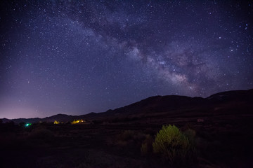 Milky Way Galaxy over American Desert at Night