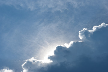 blue sky clouds background nature clear day