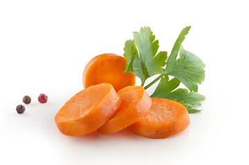 Handful of sliced carrot