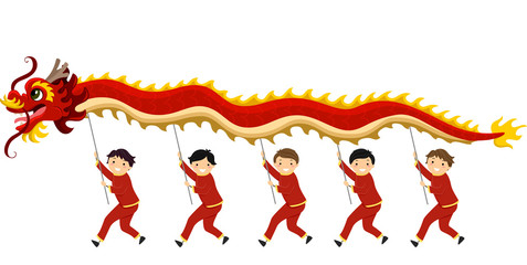 Stickman Dragon Dance