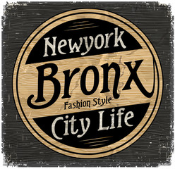 Vintage New York Brooklyn typography, t-shirt graphics, vectors