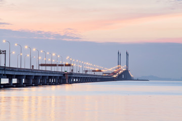 Penang Bridge view during sunrise, George Town Penang, Malaysia