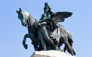 Koblenz  Deutsches Eck kaiser wilhelm statue