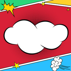Comic style bubble background design