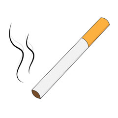 Cigarette isolated on white background. Cigarette vector illustration.