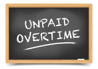 Blackboard Unpaid Overtime