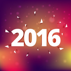 2016 happy new year holiday greeting