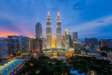 Canvas Prints Kuala Lumpur Top view of Park and Kuala Lumper city
