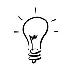 light bulb black icon vector