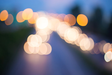 Abstract Circular Bokeh Background of Street