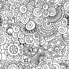 Seamless floral pattern. Perfect for printing on fabric or paper. Vector