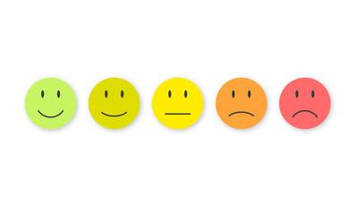 5 Smileys. 5 Moods.