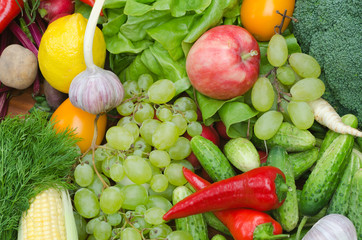 group of vegetables and fruits on table