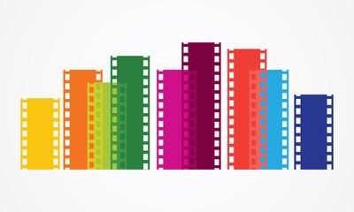 Film strip color vector
