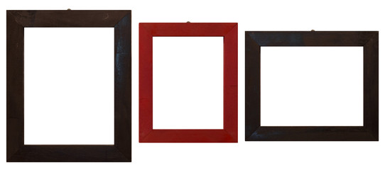 isolated wood frames