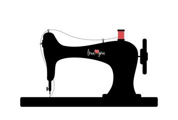 sewing machine silhouette clip