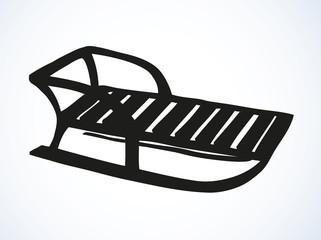 Sledge. Vector drawing