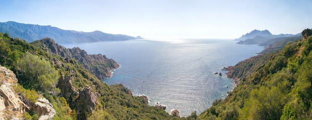 Korsika Frankreich Panorama view