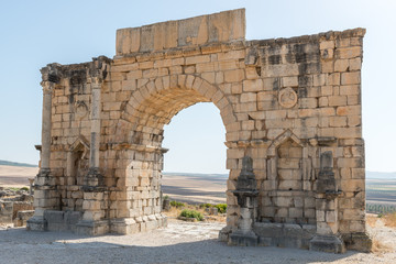 triumphal arch of Caracalla at Volubilis Morocco