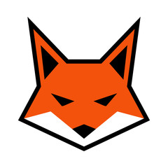 Fox head logo vector icon