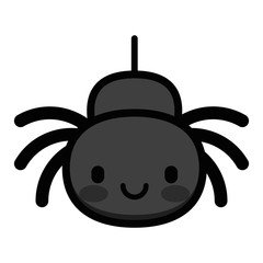 Cute Cartoon Spider Isolated On White Background