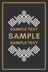 Line Art Decorative Geometric Vector Frames and Borders. Brown, White. Vector Ornaments, Vector Decoration, Line Ornament, Vector Logos, Vector Labels