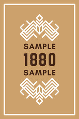 Line Art Decorative Geometric Vector Frames and Borders. Light Brown, White. Vector Ornaments, Vector Decoration, Line Ornament, Vector Logos, Vector Labels