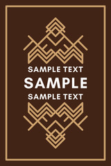 Line Art Decorative Geometric Vector Frames and Border in Brown colors. Book cover. Vector Ornaments, Vector Decoration, Line Ornament, Vector Logos, Vector Labels