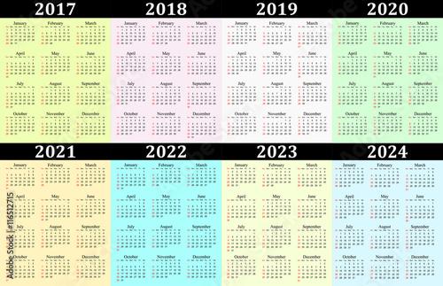 Year Calendar 2015 2019 Related Keywords & Suggestions - 5 Year ...